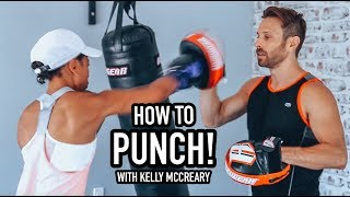 Kelly McCreary Learns To Punch W/ AJ Draven - Defend Yourself Krav Maga Class.