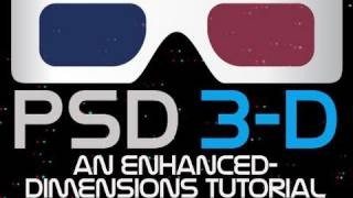 Photoshop 3D Tutorial 02 - Out of screen 3D Starfield for Red Cyan 3-D Glasses