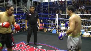 Shaun from OZ fights at Bangla Stadium (Red corner- Sinbi Muay Thai)