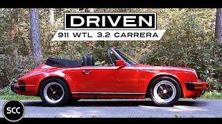 PORSCHE 911 WTL 3 2 CARRERA Convertible 1986 - Full test drive in top gear - Engine sound | SCC TV