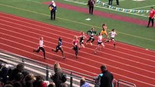 Girls 100M Dash Final (2A), WIAA State Championship 2013