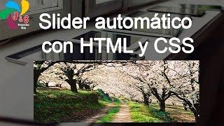 Slider automático con HTML y CSS