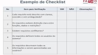 Checklist - Lista de Verificação