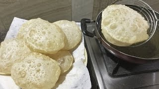 How to make Phulko Luchi | Bengali Deep Fried Bread - In Bengali Recipe