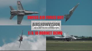 SWISS F18 HORNET DEMO - WADDINGTON AIRSHOW 2012 (airshowvision)