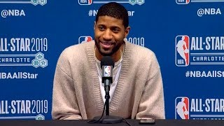 Paul George press conference after All-Star Game | Team LeBron vs Team Giannis