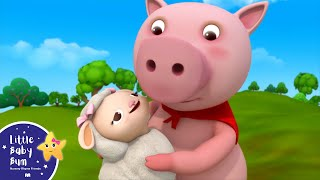 Little Bo Peep Has Lost Her Sheep | Nursery Rhymes | by LittleBabyBum!