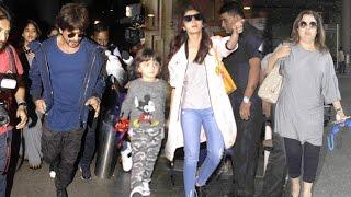 Airport Spotting 23rd Nov 2016 - Shahrukh,Abram Khan,Alia Bhatt,Farah Khan,Adnan Sami
