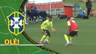Neymar manda lambreta humilhante durante treino do Brasil