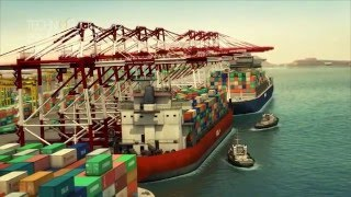 Persian Gulf Bridge and Kaveh Port_3D Animation_Part1