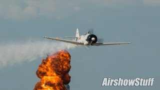 """Tora Tora Tora"" Pearl Harbor Reenactment - EAA AirVenture Oshkosh 2015"