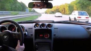 SLEEPER GOLF MK1 smokes Porsche GT3 and 350Z on the Autobahn