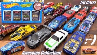 Toy Review: Kid's Toy Cars! 50 Hot Wheels Diecast Cars Collection Set Unboxing & Playtime