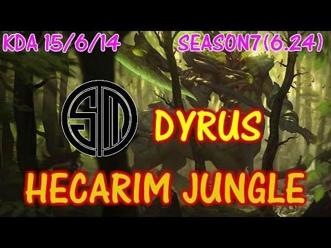 TSM Dyrus Hecarim Jungle / Solo Ranked full game【LOL NA】【Pro Replay】