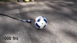 Exploding sport balls by over inflating them