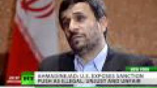 Ahmadinejad gives exclusive interview to RT