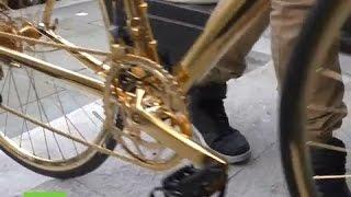 شاهد دراجة هوائية مصنوعة من الذهب سعرها أغلى من فيراري..