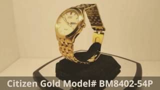 Citizen Eco-Drive Gold SS Model# BM84802-54P Retail $420