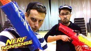 NERF NONSENSE | Real YouTuber, Modded Mayhem Blasters, Nemesis Nerf War