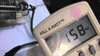Keshe Magrav Single Coil Update... Meter Zeros with 3 watt LED!