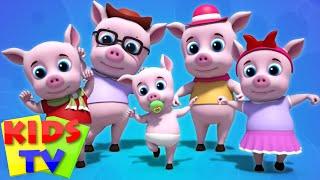 Pigs Finger Family   Five Little Piggies   Nursery Rhymes   Kids Songs