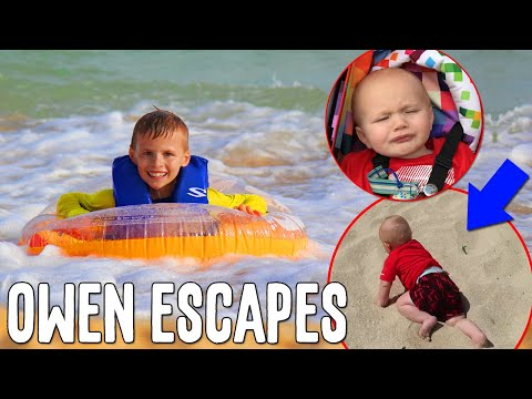 Owen Escapes at the Beach Mommy Monday