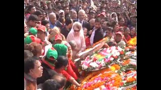 BNP Chairperson  Khaleda Zia respect to the hero  in National memorial