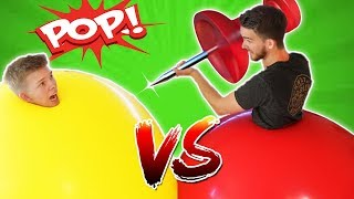 GIANT 6ft Balloon Battle!