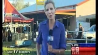 Kid mooning camera LIVE news blooper (AUSTRALIA)