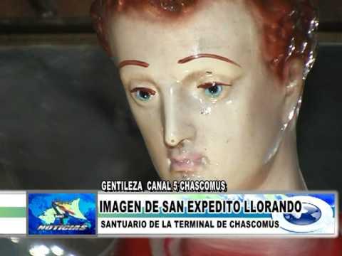 IMAGEN DE SAN EXPEDITO LLORANDO EN CHASCOMUS