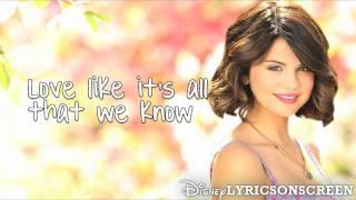 Selena Gomez & The Scene - Live Like There's No Tomorrow (Lyrics Video) HD