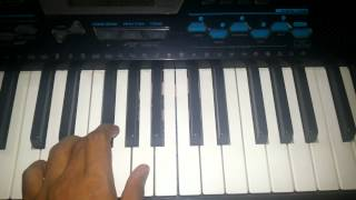 Bhutan zapatal song on piano