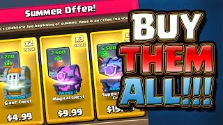 Buying ALL the chests!! - CLASH ROYALE