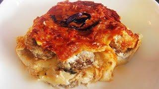Veal (or Pork) MEATBALL LASAGNE from Scratch /Italian restaurant recipe/lasagna