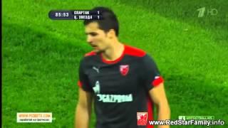 Spartak Moskva 1-1 Crvena zvezda 05-09-2014 ponisten gol Marka Grujica HD
