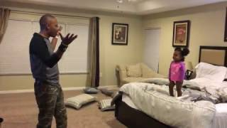 Dad Pretends to Have Superpowers to Push Daughter