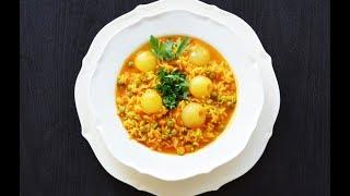 Arroz com Ervilhas یک غذای سنتی از کشور پرتغال