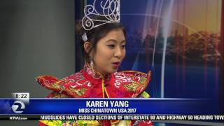 Miss Chinatown USA 2017 visits Mornings on 2