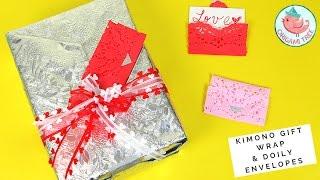 ❤️ WIN $50!!! ❤️ Plus How to Wrap a Gift Kimono Style & DIY Heart Doily Envelopes | Valentine's Day
