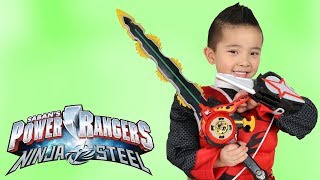 Power Rangers Ninja Steel Toys  Ninja Master Blade Sword And Star Shooter Ckn Toys
