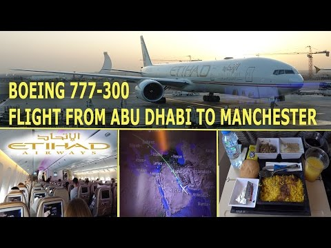 Flight From Abu Dhabi to Manchester - Boeing 777-300, Etihad 2016 4K