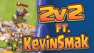 2v2 ft. KevinSmak! --- Father and Son battle mode! --- Clash Royale