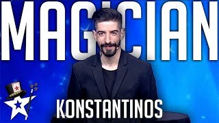 Card Magician Invites Judges To The Stage on Got Talent Greece | Magicians Got Talent