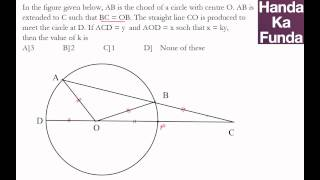 CAT 2015 Exam Online Coaching Preparation Material - Geometry - Handa Ka Funda (C03GE08)