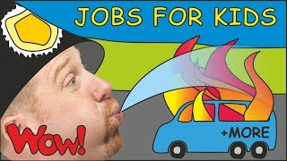 Jobs for Kids with Steve and Maggie | + MORE Magic Stories for Children | Speak with Wow English TV