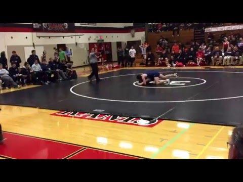 Dec 2015 Bartlett vs Glenbard East wrestling dual 145 varsity period 3
