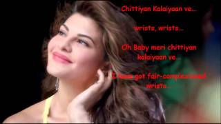 Chittiyan Kalaiyaan Lyrics with  Translation
