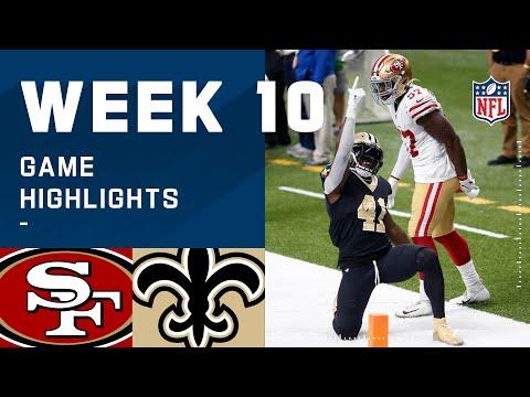49ers vs. Saints Week 10 Highlights NFL 2020
