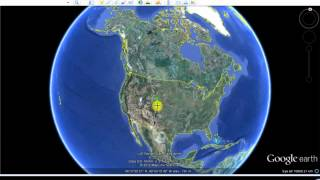 God´s face in Google earth (North America)