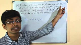 Beer Lambert law calculations and derivation explained 1 | for NET GATE exam